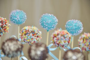 Cake pops on a stick
